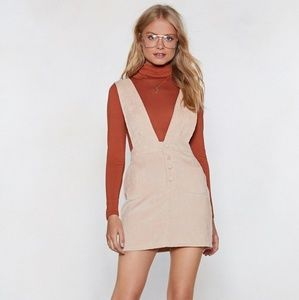 Nastygal Sand Pinafore Dress